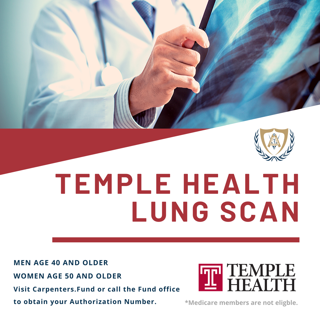 National Lung Cancer Awareness Month, Get your Temple Health Lung Scan!